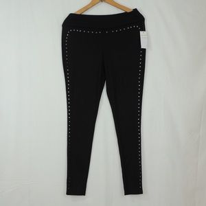 ultra flirt shine beads black leggings